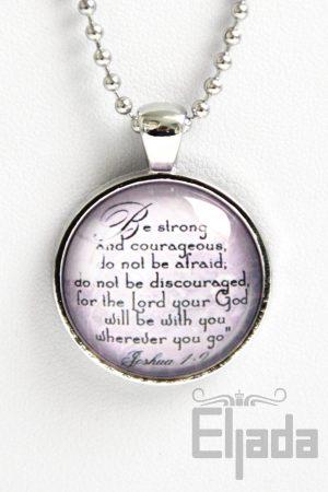 Joshua 1:9 - Jozua - Christelijke ketting - Christian necklace