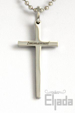Immanuel ketting - rvs