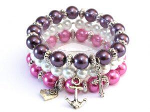 Abigaïl - roze/wit/paars