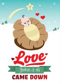 Kerstkaart | John 3:16