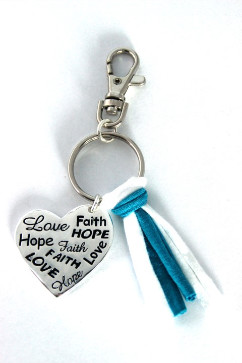 Faith/Hope/Love - turquoise