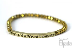 Faith/Hope/Love (goud) - Basic
